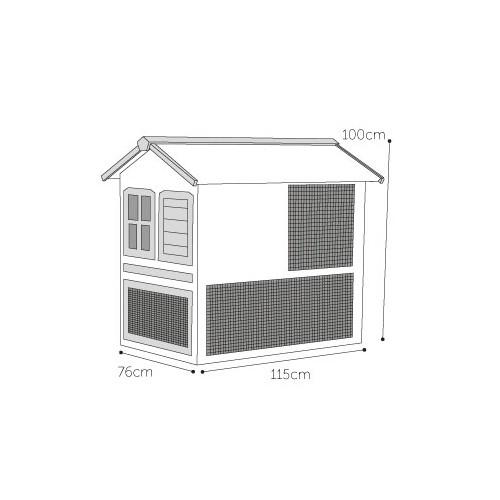 poulailler en bois pour 2 poules la halle aux grains. Black Bedroom Furniture Sets. Home Design Ideas