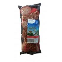 Assortiment boules de graisse et arachides