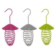 Support color pour boules de graisse la halle aux grains - Support boule de graisse pour oiseaux ...