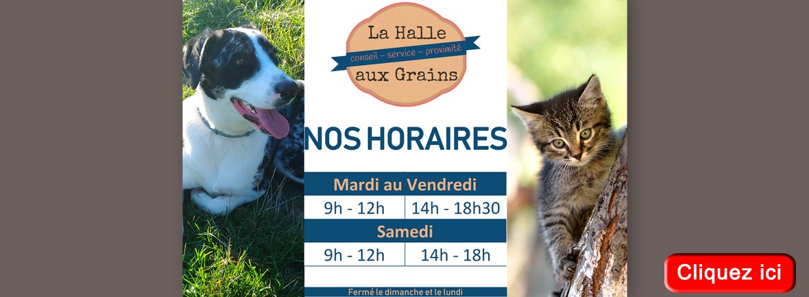 Horaires graineterie et alimentation animale Carcassonne