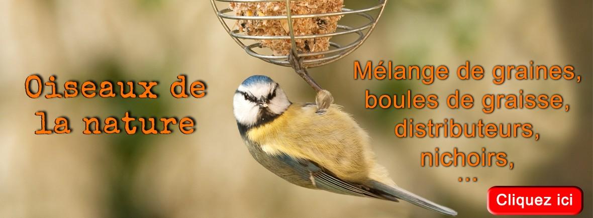 Grande sélection de produits pour les oiseaux de la nature !