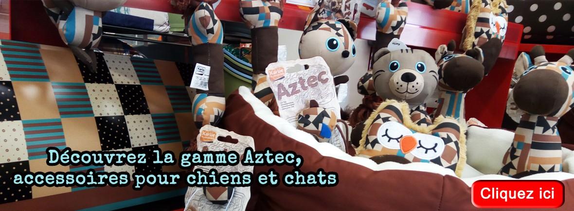 Gamme AZTEC, des jouets et accessoires pour chiens et chats modernes et design