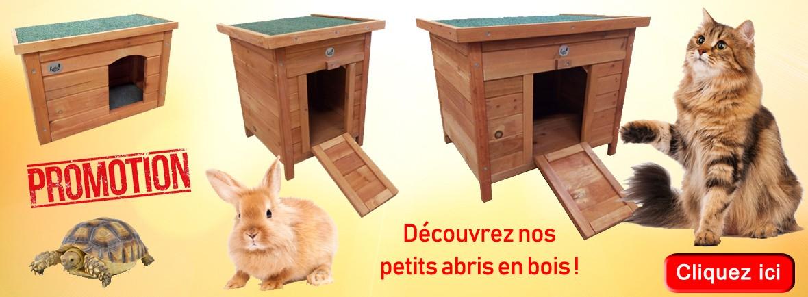 Cabanes en bois pour petit animal - La Halle aux Grains Carcassonne